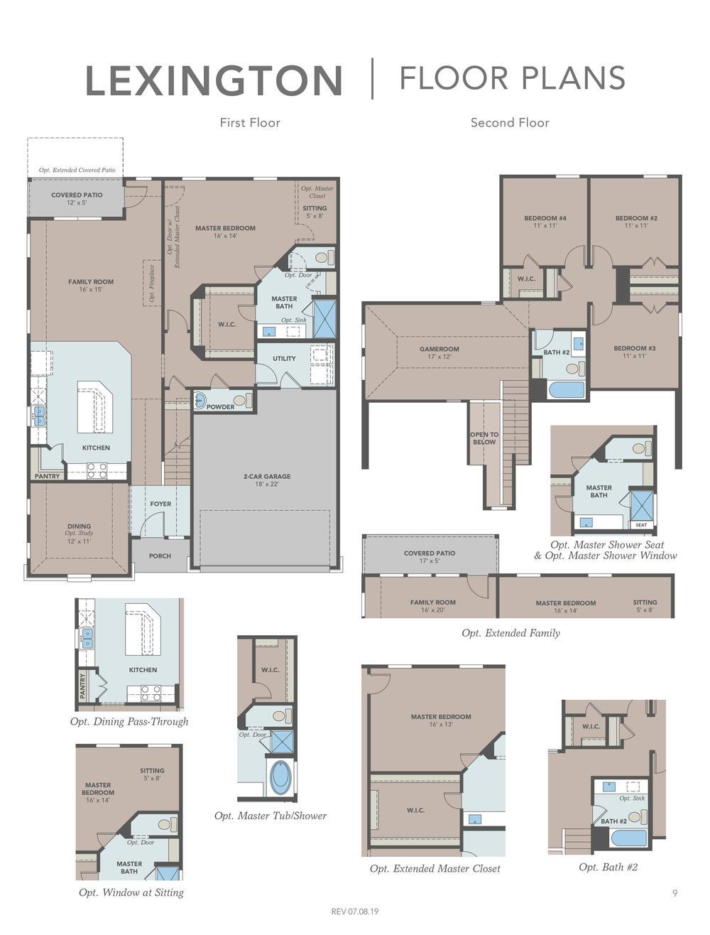 Lexington Floor Plans