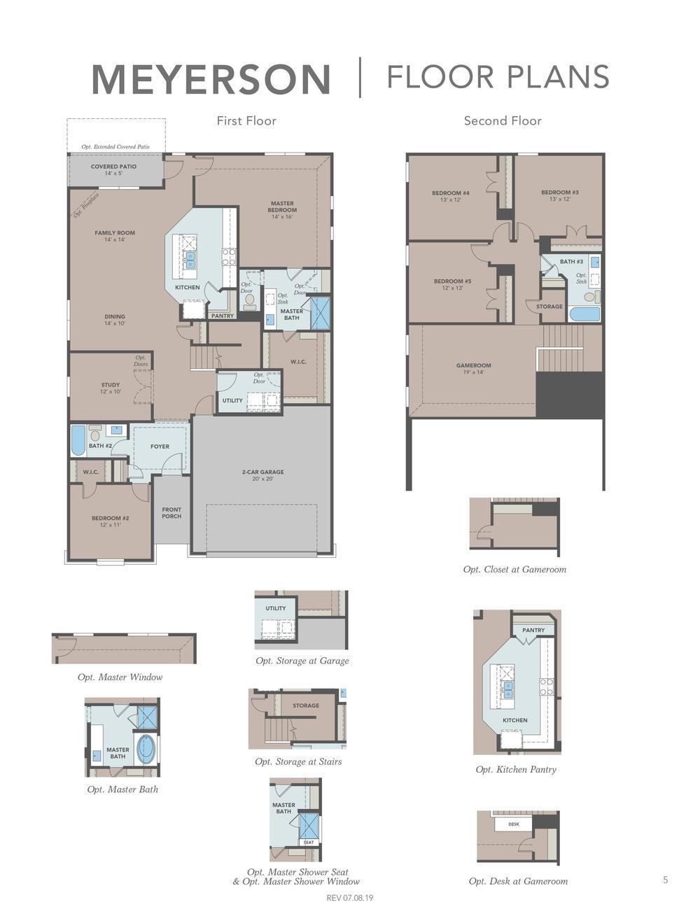 Meyerson Floor Plans