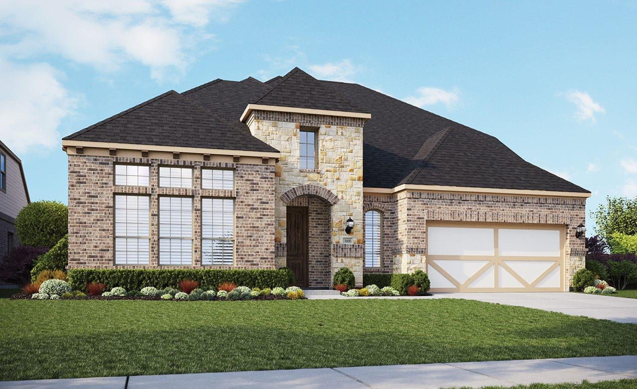 Exterior featured in the Classic Series - Princeton By Gehan Homes in San Antonio, TX