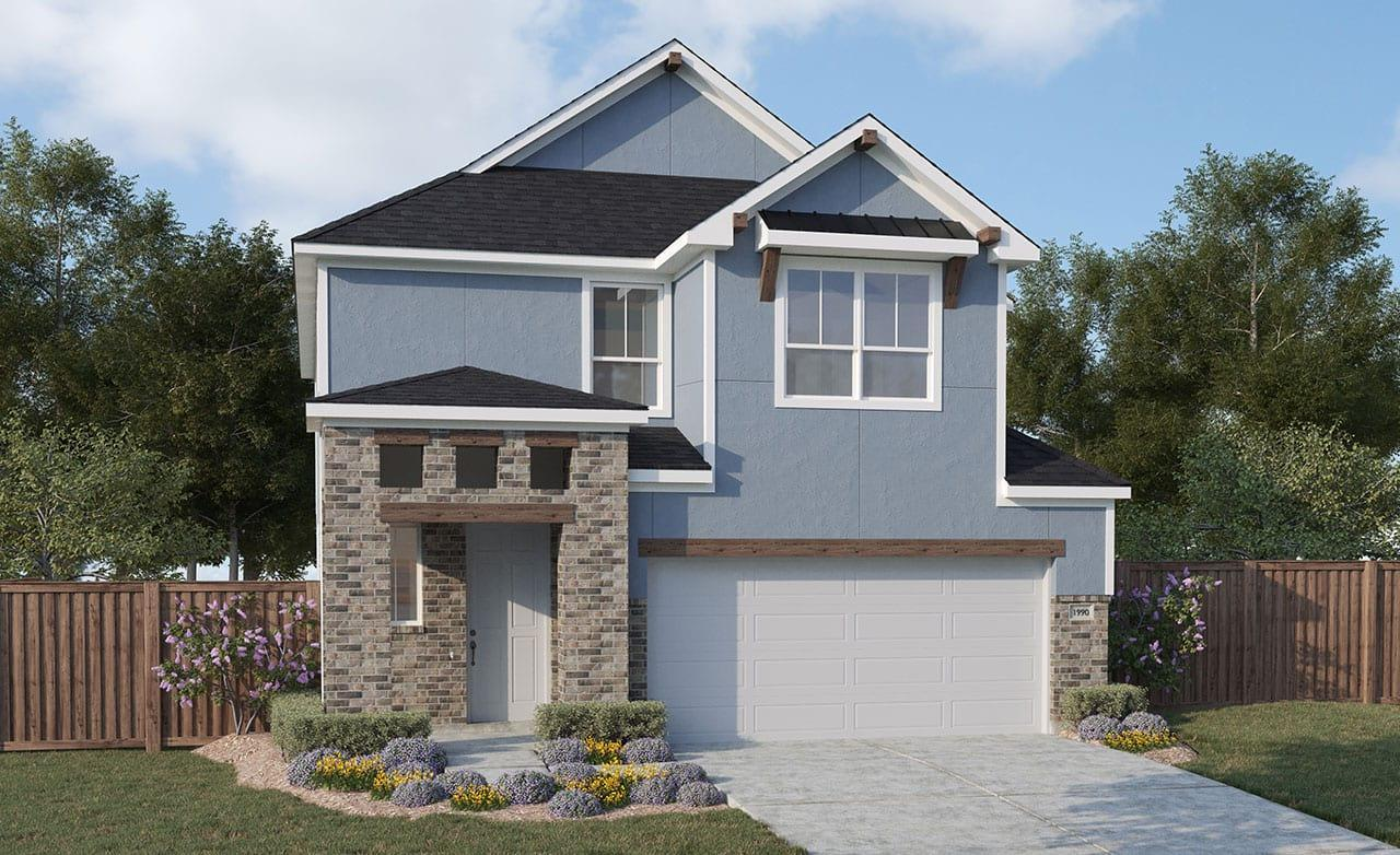 Exterior featured in the Journey Series - Legend By Gehan Homes in Houston, TX
