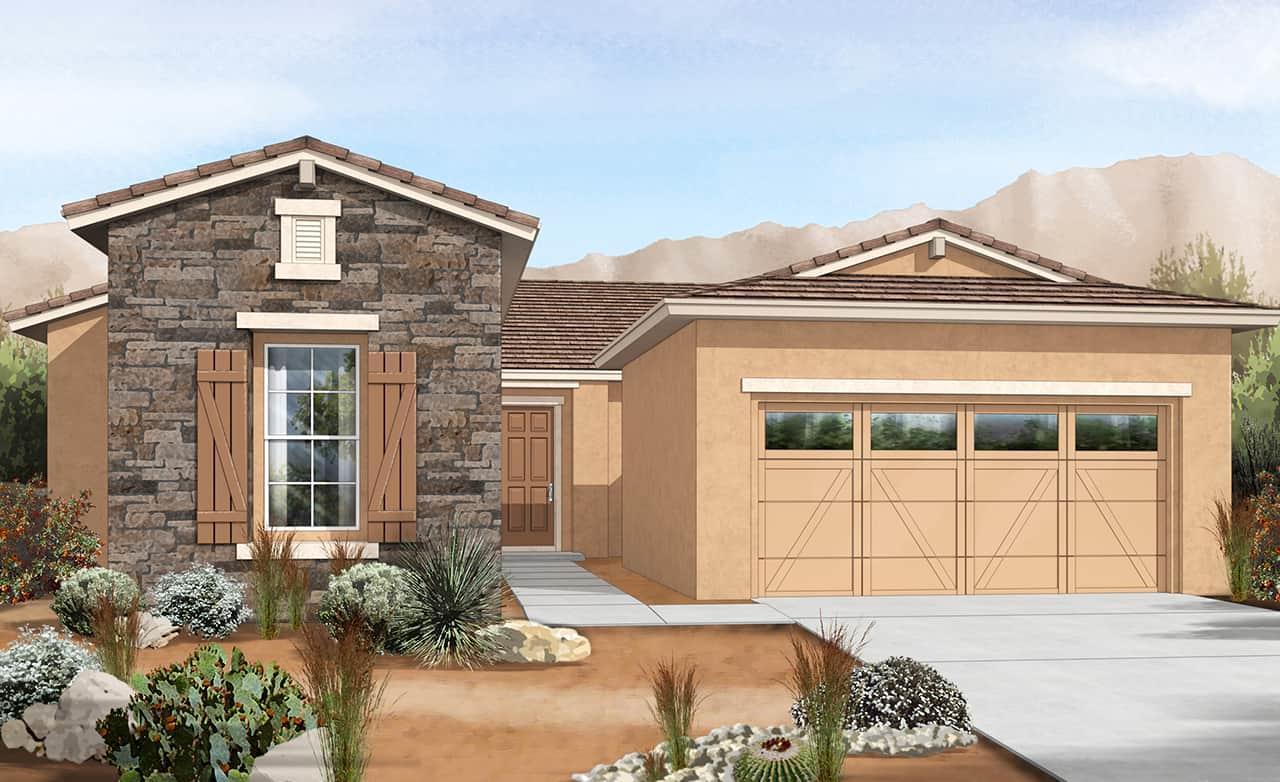Exterior featured in the Hacienda Series - Cinnabar By Gehan Homes in Phoenix-Mesa, AZ