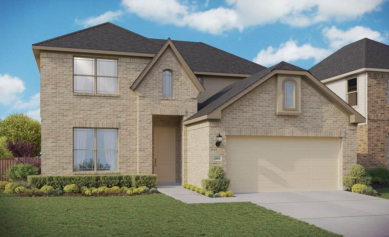 Exterior featured in the Premier Series - Hickory By Gehan Homes in Dallas, TX