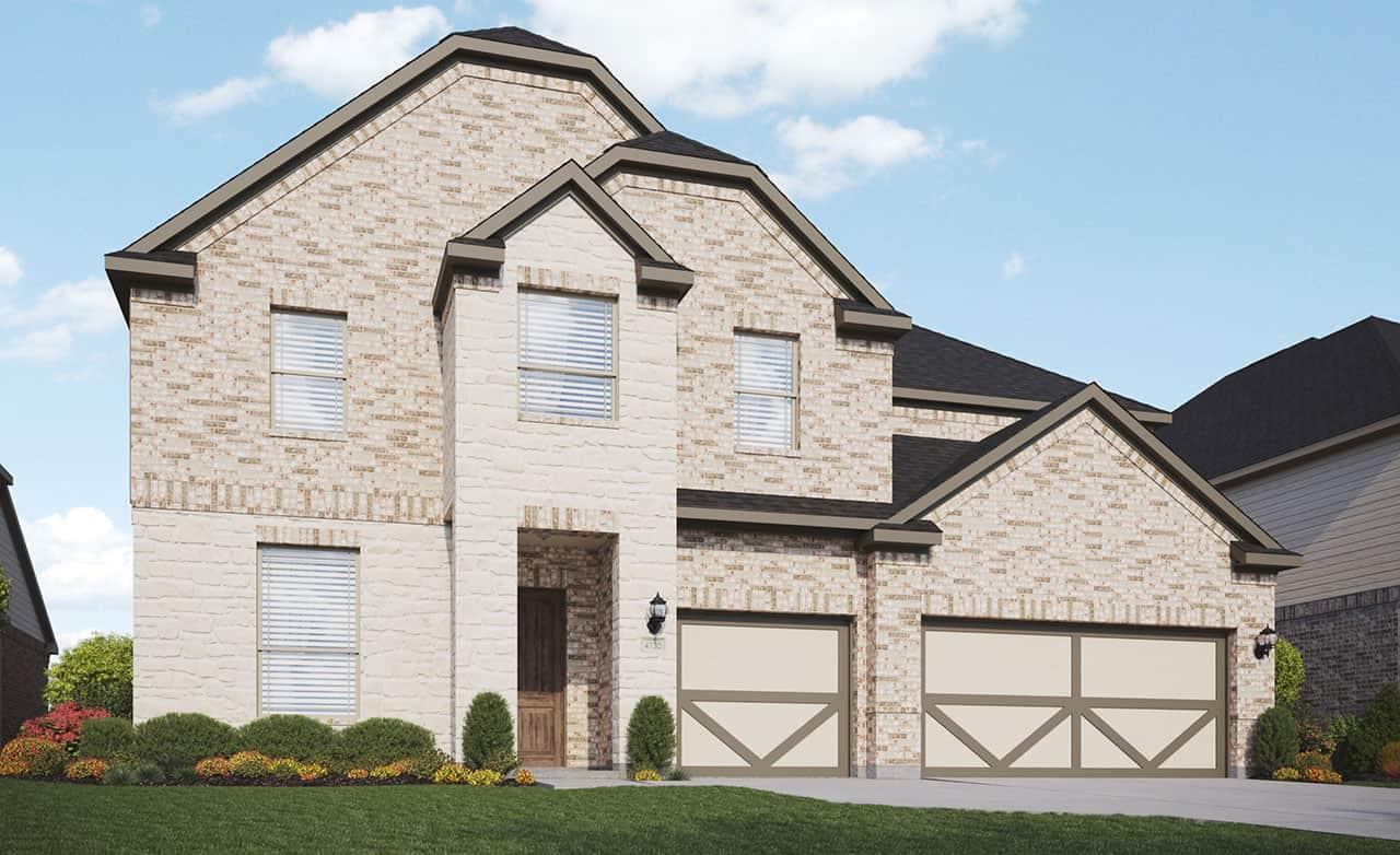 Exterior featured in the Classic Series - Cornell By Gehan Homes in Houston, TX