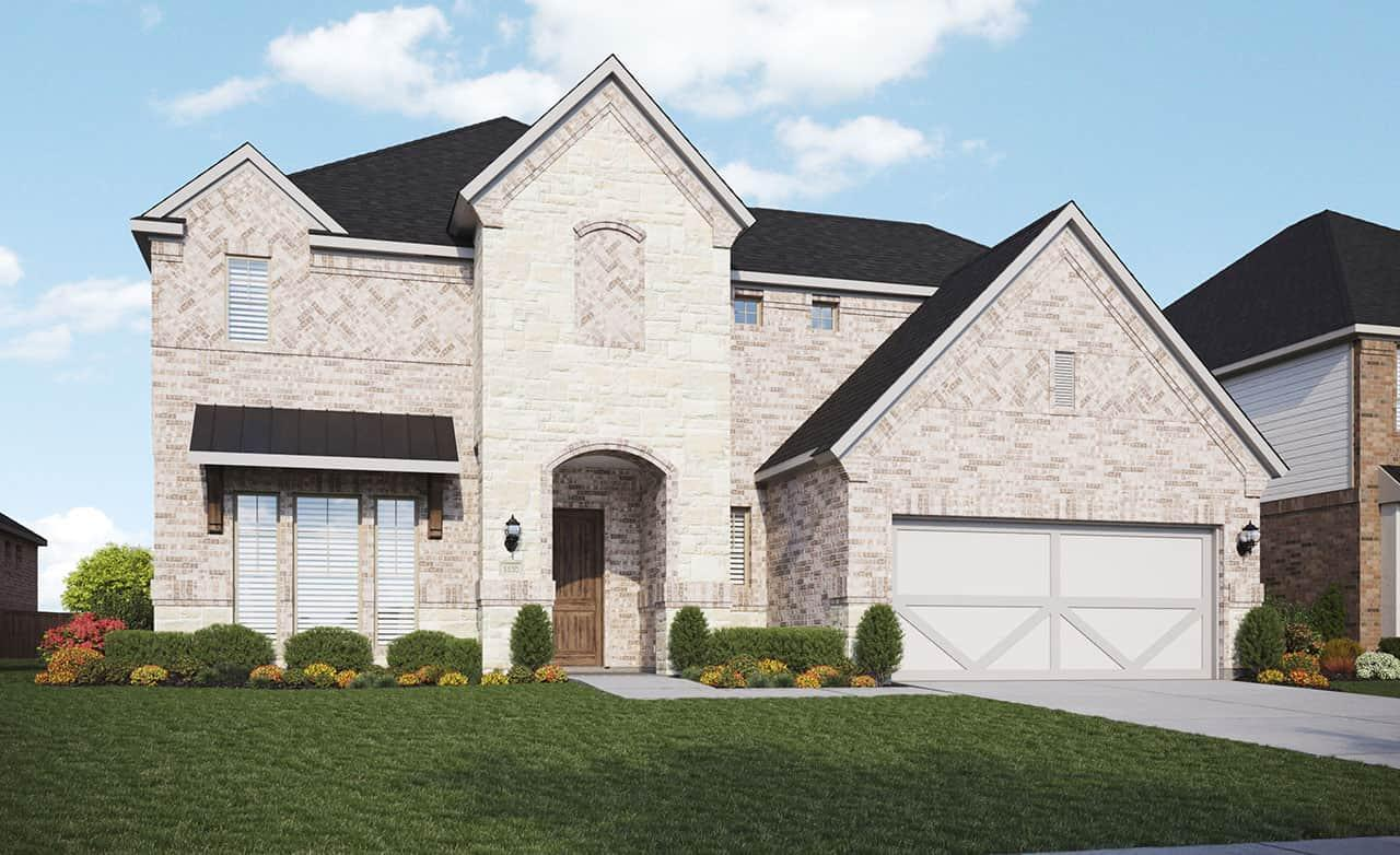 Exterior featured in the Classic Series - Stanford By Gehan Homes in Houston, TX