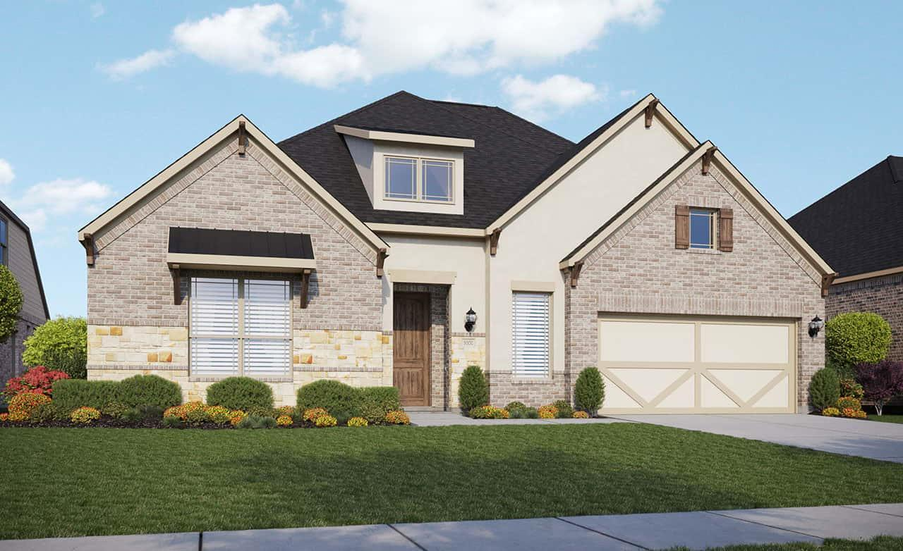 Exterior featured in the Classic Series - Princeton By Gehan Homes in Houston, TX