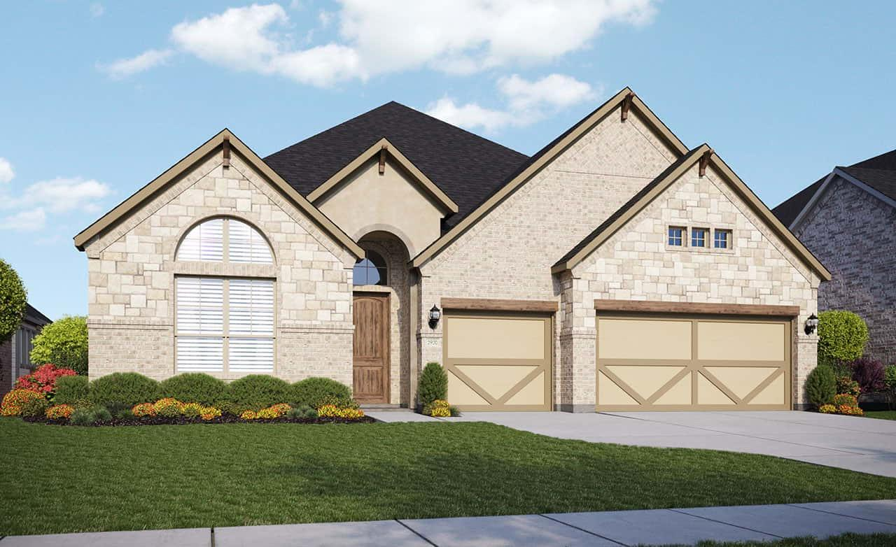 Exterior featured in the Classic Series - Villanova By Gehan Homes in Dallas, TX