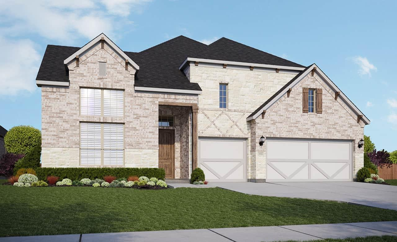 Exterior featured in the Classic Series - Villanova By Gehan Homes in San Antonio, TX