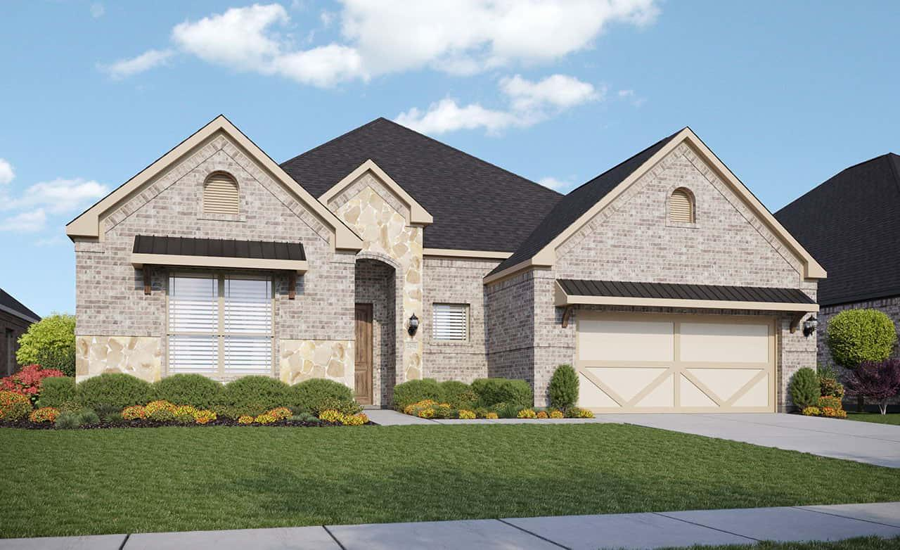 Exterior featured in the Classic Series - Yale By Gehan Homes in Fort Worth, TX
