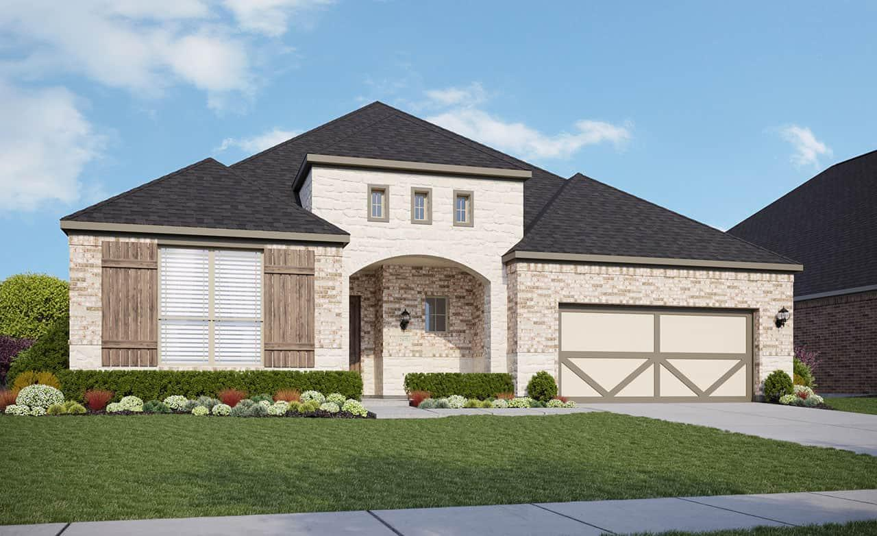 Exterior featured in the Classic Series - Yale By Gehan Homes in Austin, TX