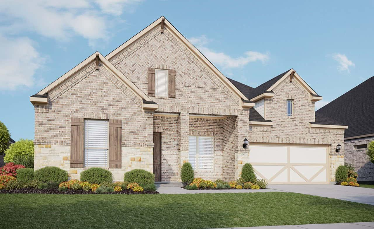Exterior featured in the Classic Series - Tulane By Gehan Homes in Austin, TX