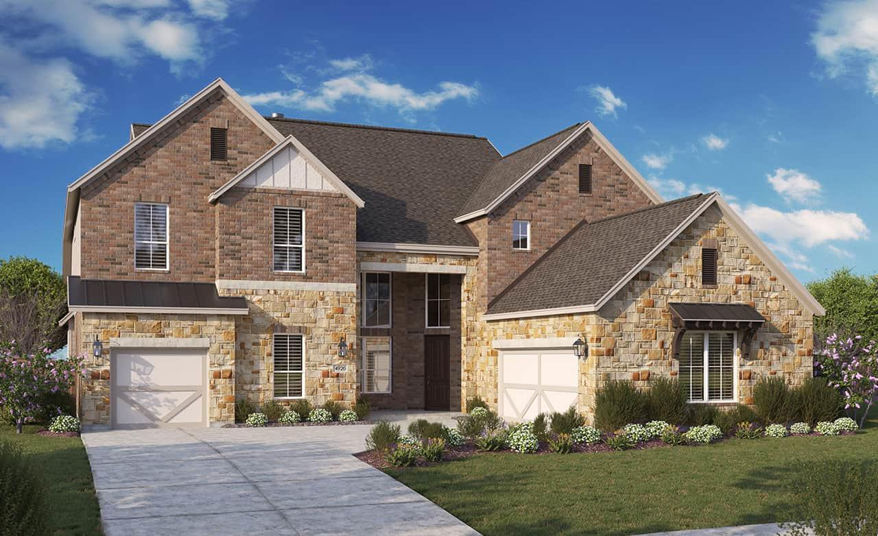 Exterior featured in the Signature Series - Sandpiper By Gehan Homes in Houston, TX
