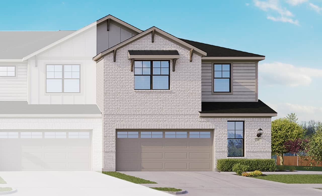 Exterior featured in the Townhome Series - Yosemite F By Gehan Homes in Dallas, TX