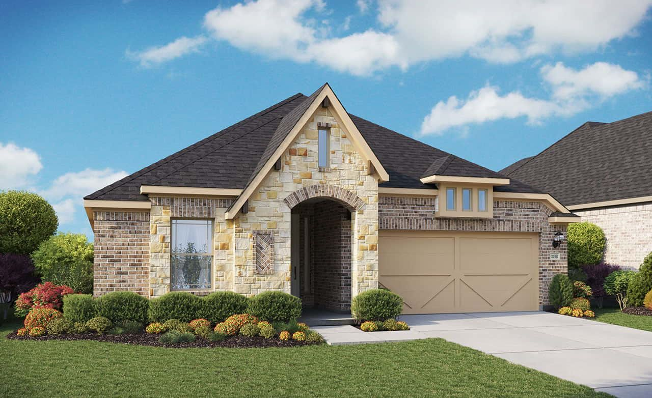 Exterior featured in the Premier Series - Oleander By Gehan Homes in Houston, TX