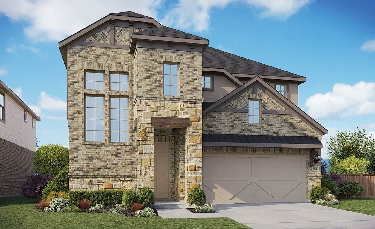 Exterior featured in the Enclave Series - Tahiti By Gehan Homes in Houston, TX