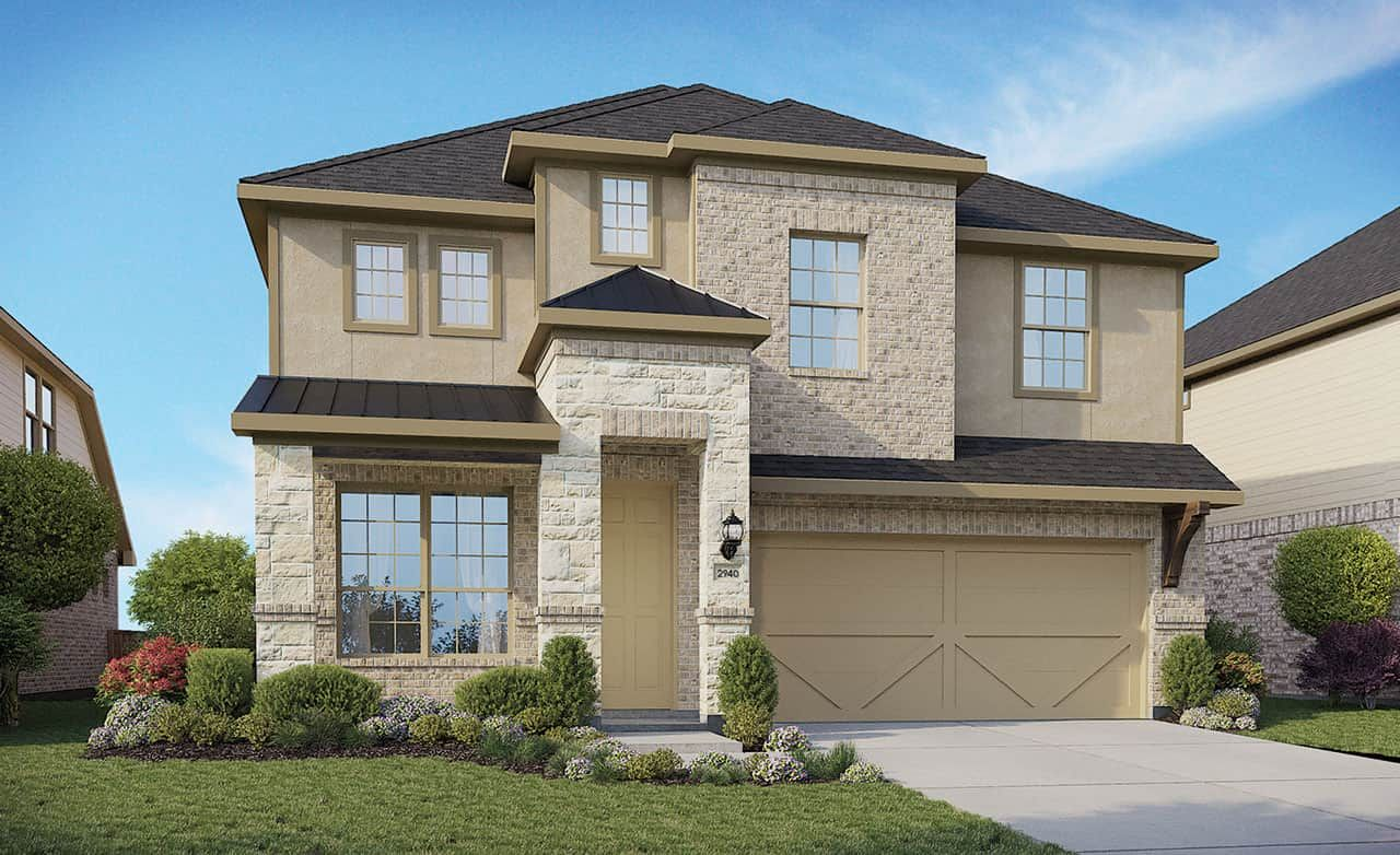 Exterior featured in the Enclave Series - Capri By Gehan Homes in Houston, TX