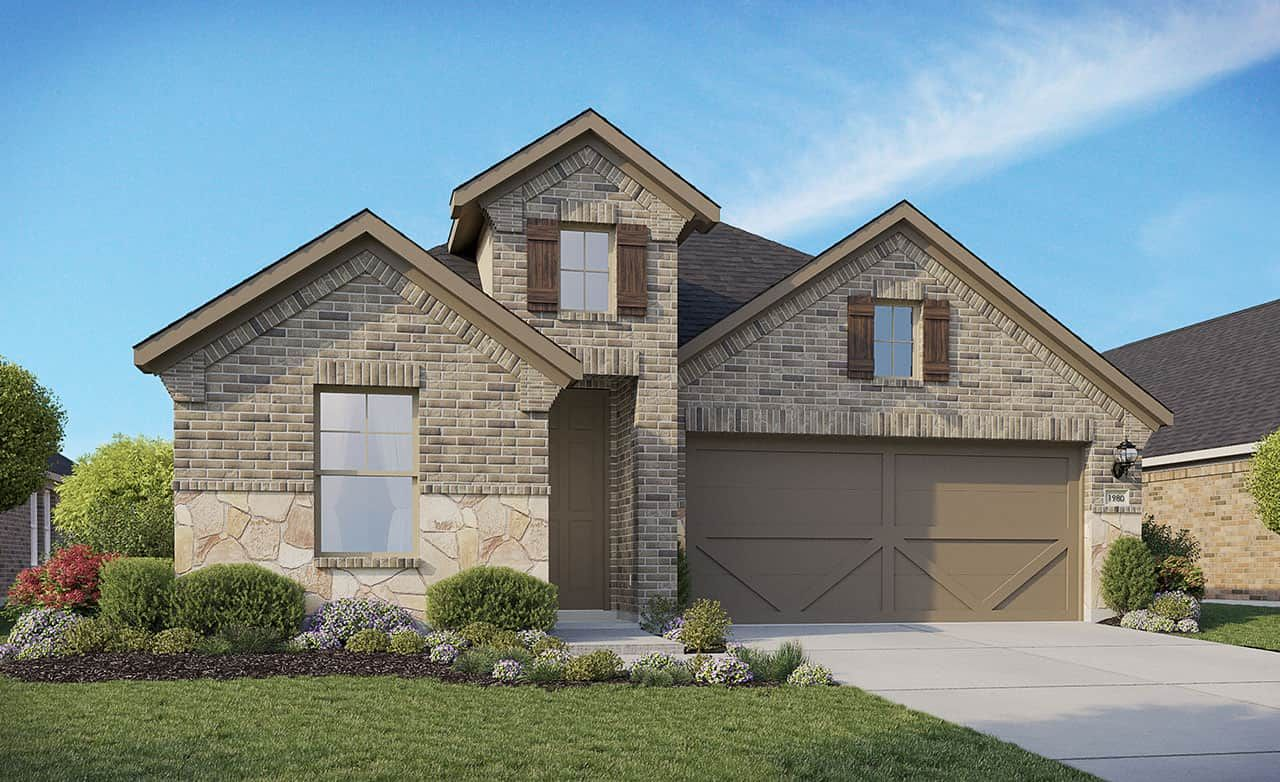 Exterior featured in the Enclave Series - Fiji II By Gehan Homes in Houston, TX