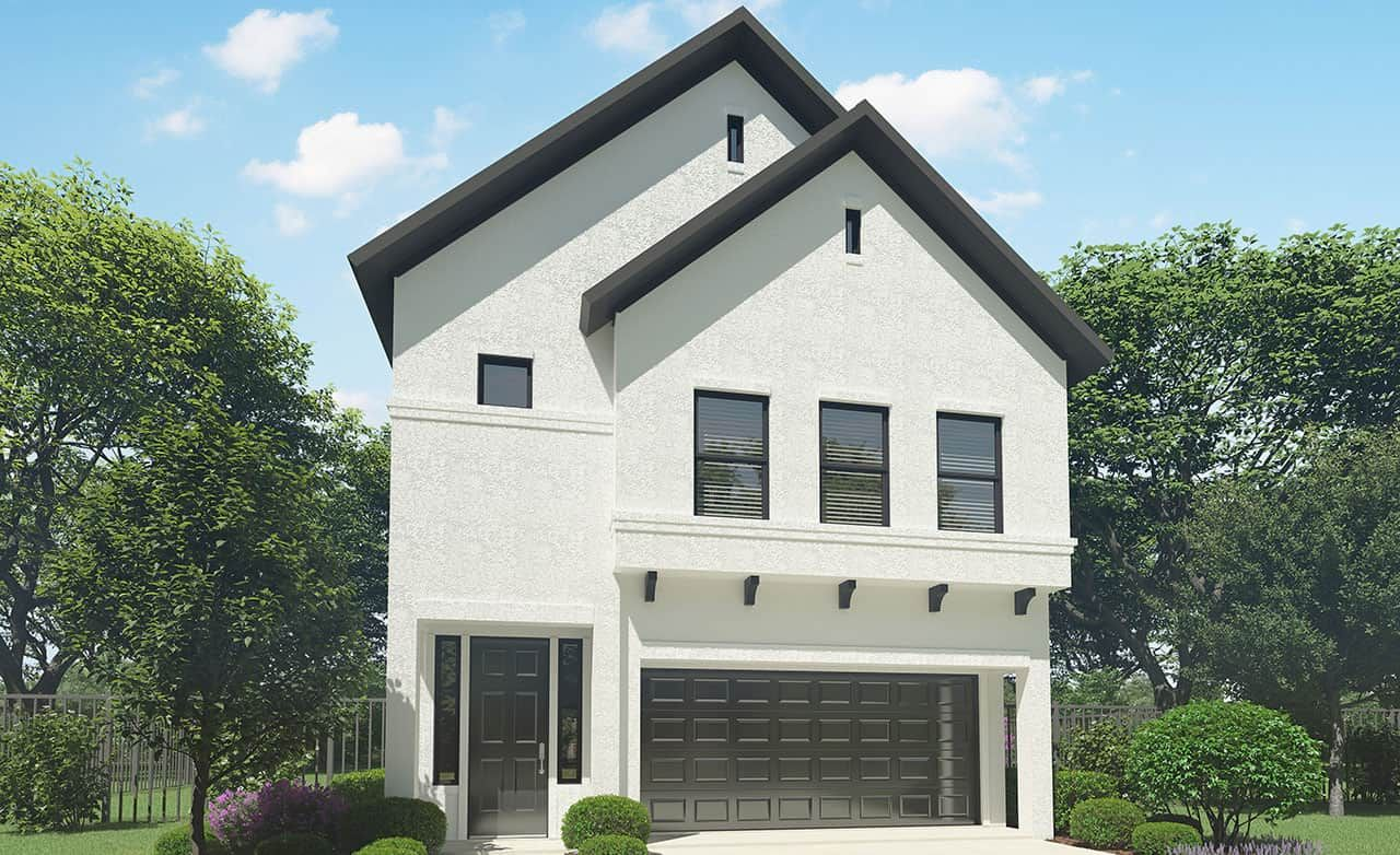 Exterior featured in the Park Series - 1626 By Gehan Homes in Houston, TX