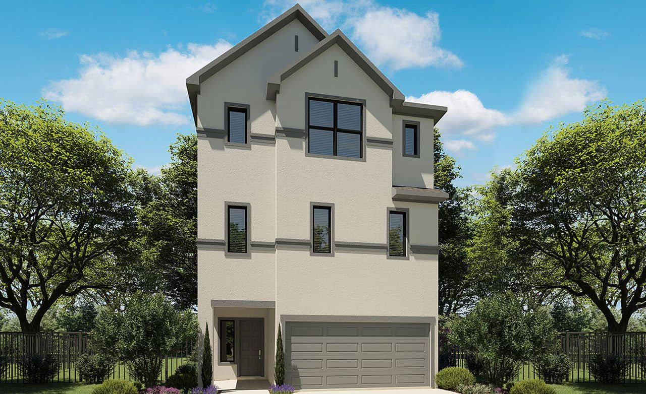 Exterior featured in the Park Series - 2298 By Gehan Homes in Houston, TX