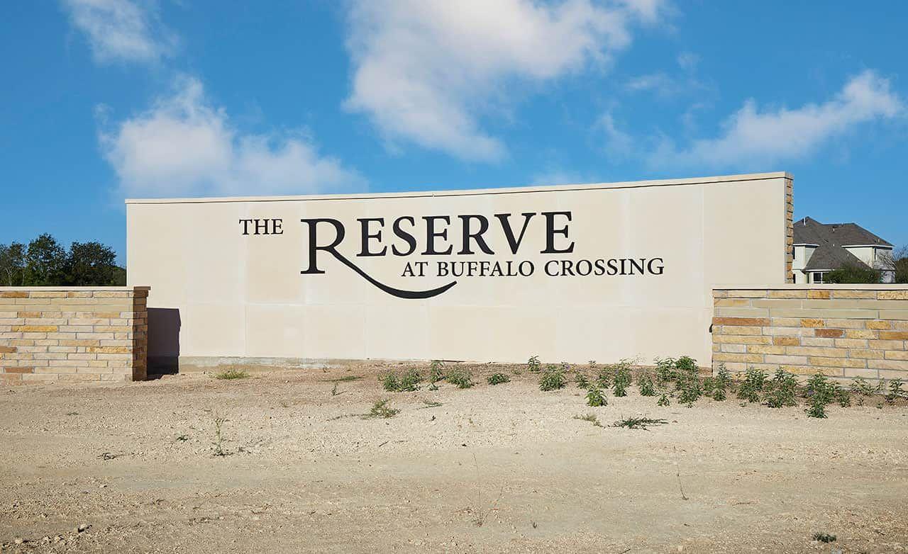 Buffalo Crossing Community Sign