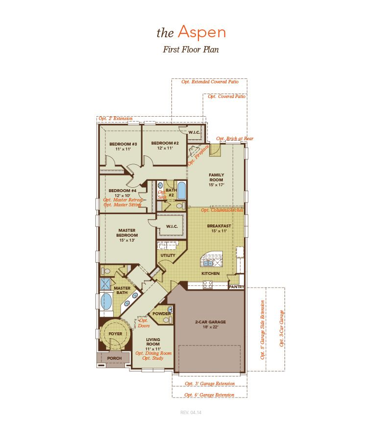 Aspen home plan by gehan homes in inverness estates premier for Aspen homes floor plans