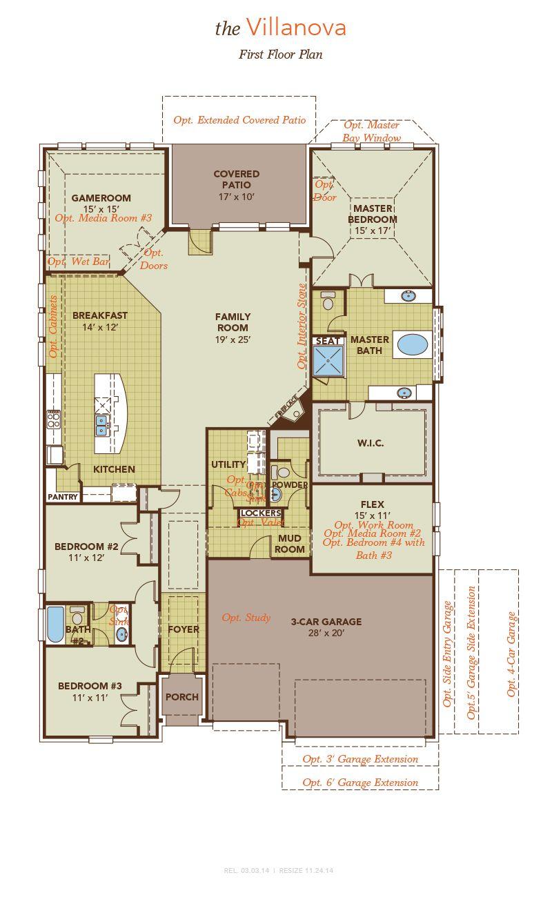 Villanova model at 4502 los alamos court for Buy building plans online