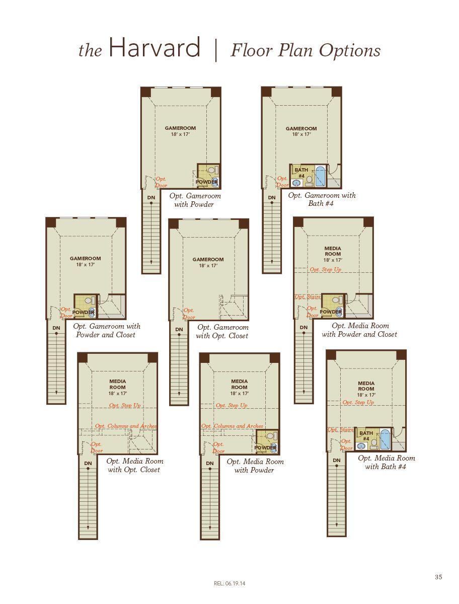 Harvard Home Plan By Gehan Homes In Westwood