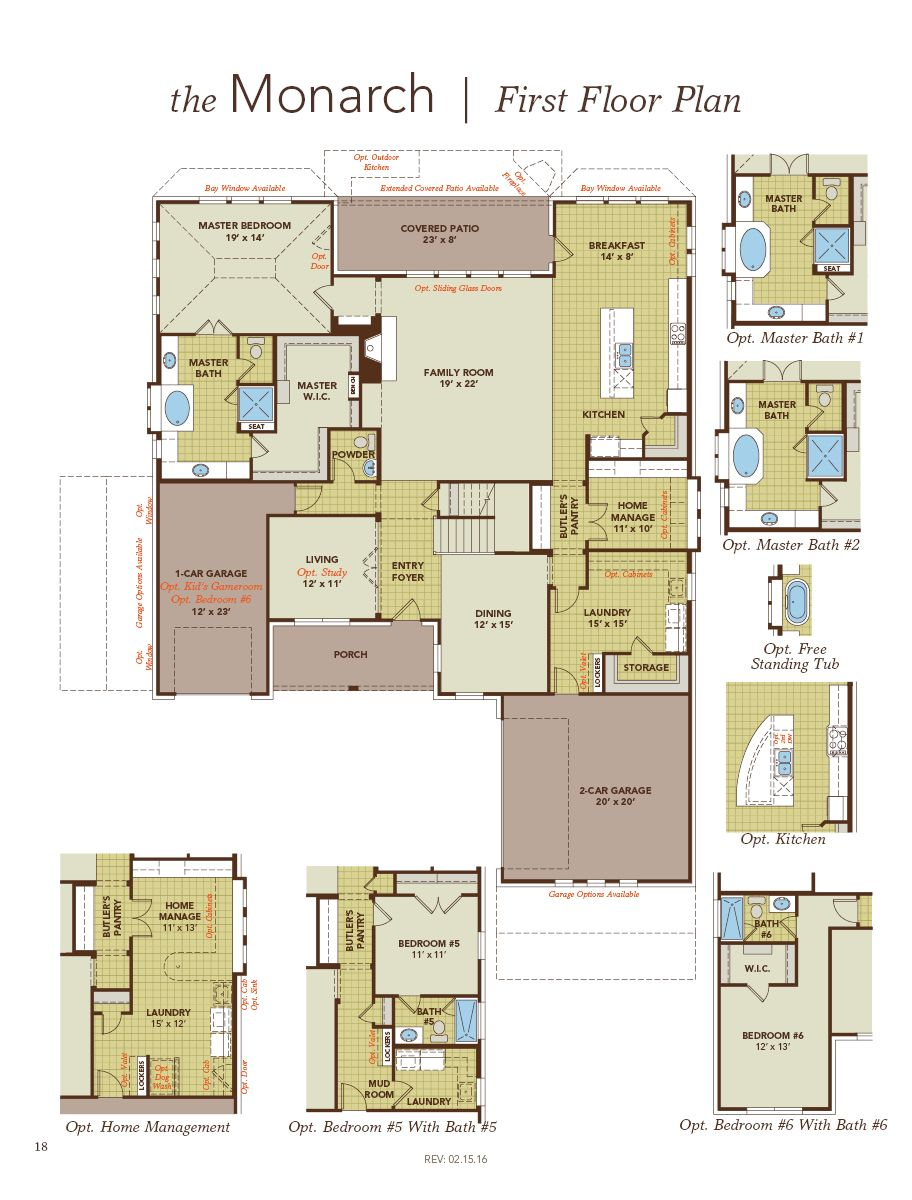 Monarch Home Plan By Gehan Homes In Hidden Lakes Classic 80