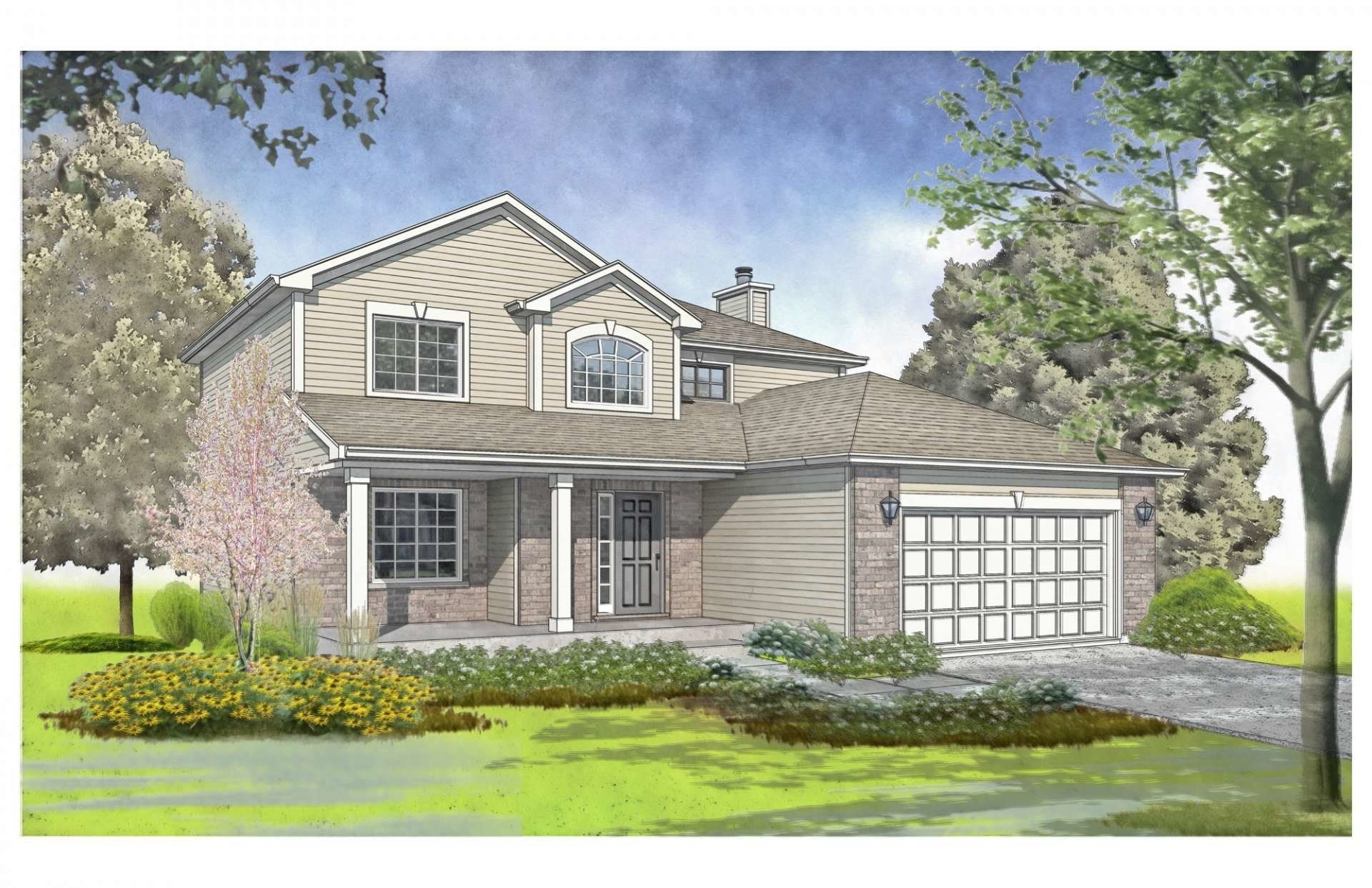Exterior featured in the Roosevelt By Gerstad Builders in Rockford, IL