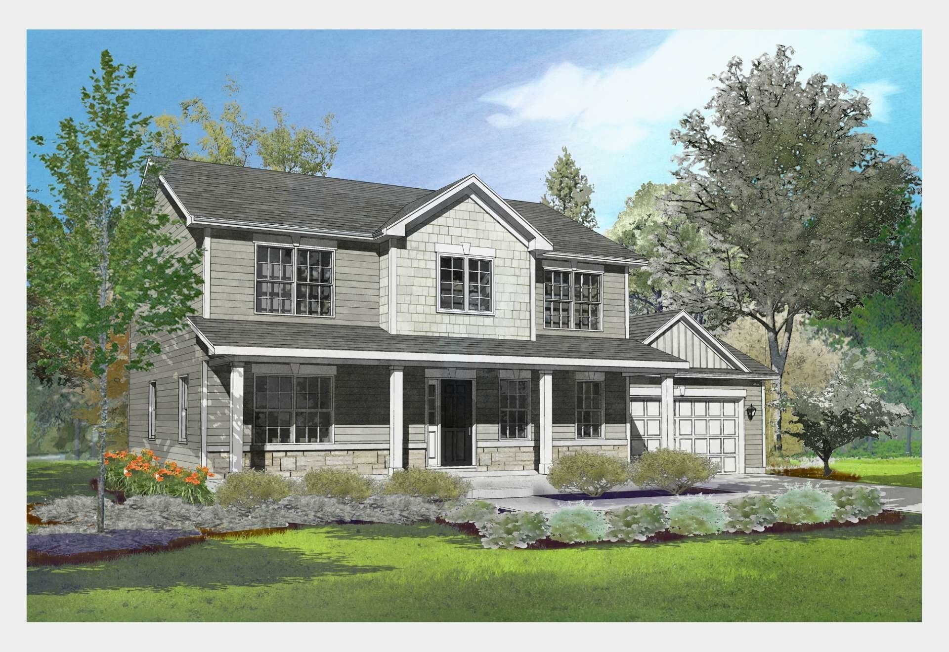 Exterior featured in the Adams By Gerstad Builders in Rockford, IL