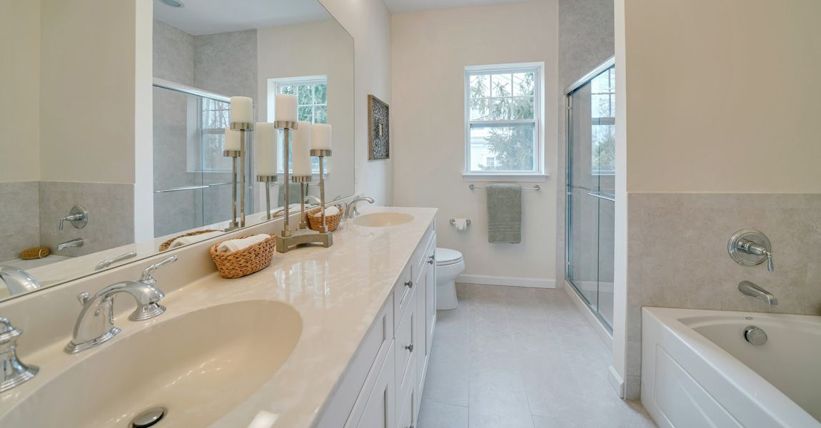 Bathroom featured in The Cornwall By Ginsburg Development Companies in Orange County, NY