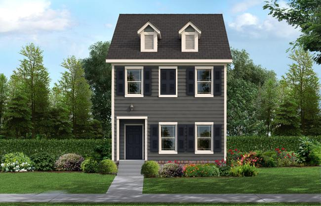 Exterior:The Monroe Colonial Elevation