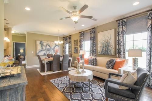 Greatroom-and-Dining-in-The Raleigh Courtyard Cottage-at-The Cottages at Nolen Mill-in-Nolensville