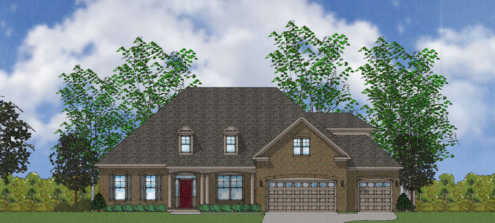 Exterior featured in The Shelburne By Goodall Homes in Huntsville, AL