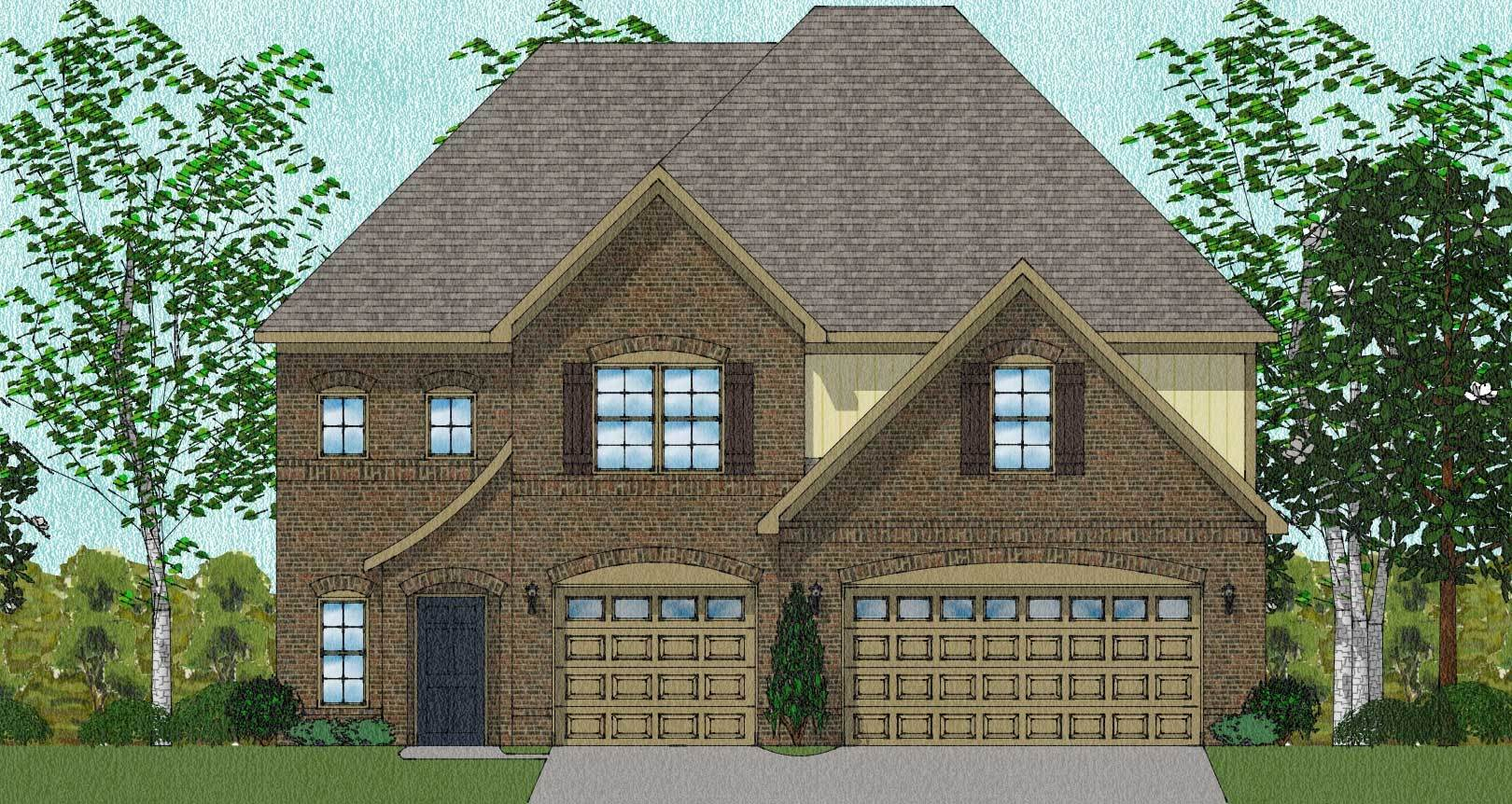 Exterior featured in The Warwick By Goodall Homes in Huntsville, AL
