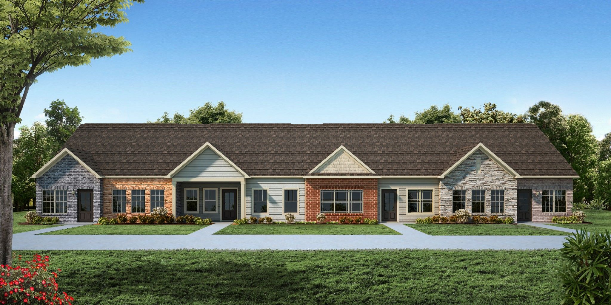 Exterior featured in The Ashleigh Courtyard Cottage By Goodall Homes in Chattanooga, GA