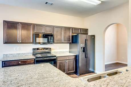 Kitchen-in-The Redwood-at-Azalea Place-in-Millbrook