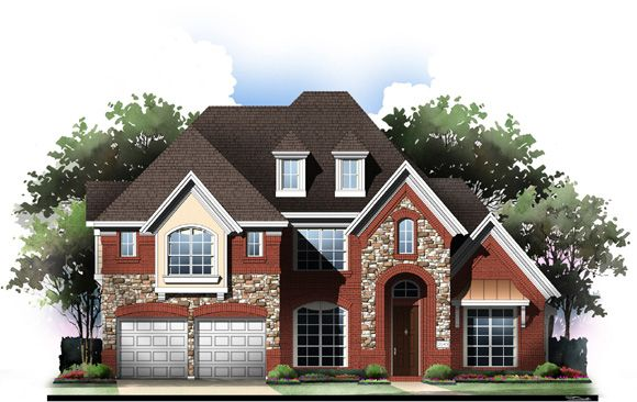 Exterior featured in the Grand Bluffview II By Grand Homes in Fort Worth, TX