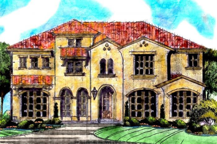Exterior featured in the Hartford By Grand Homes in Dallas, TX