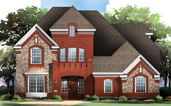 Exterior featured in the Provence II By Grand Homes in Fort Worth, TX