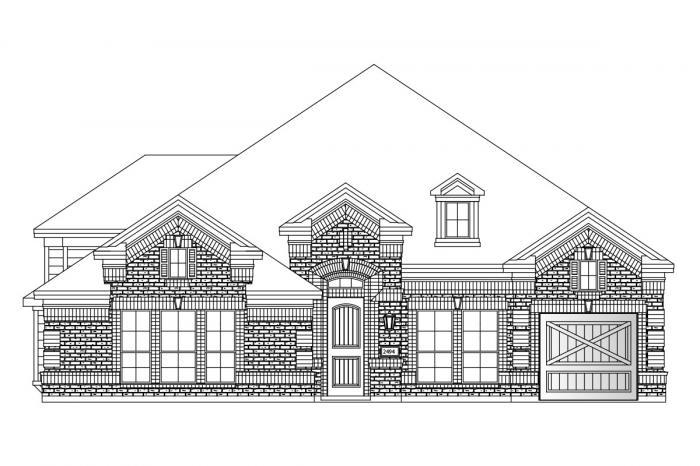 Exterior featured in the Premier Hartford By Grand Homes in Dallas, TX