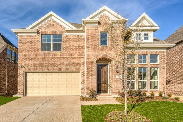 Exterior featured in the Edinbourgh III By Grand Homes in Dallas, TX