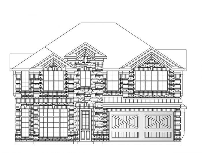 Exterior featured in the Rivercrest By Grand Homes in Dallas, TX