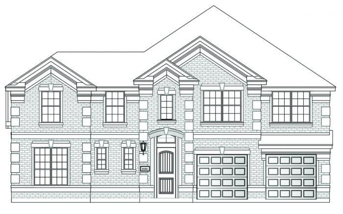 Exterior featured in the Hartford II By Grand Homes in Dallas, TX