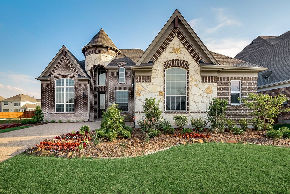 Exterior featured in the Tiffany II By Grand Homes in Dallas, TX