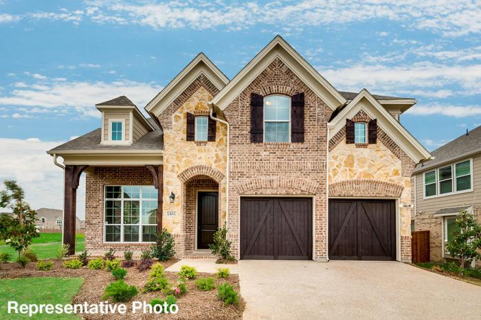 Exterior featured in the Alexandria II - 184 By Grand Homes in Dallas, TX