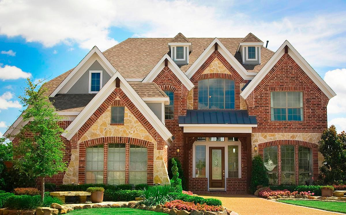 Exterior featured in the Provence II By Grand Homes in Dallas, TX