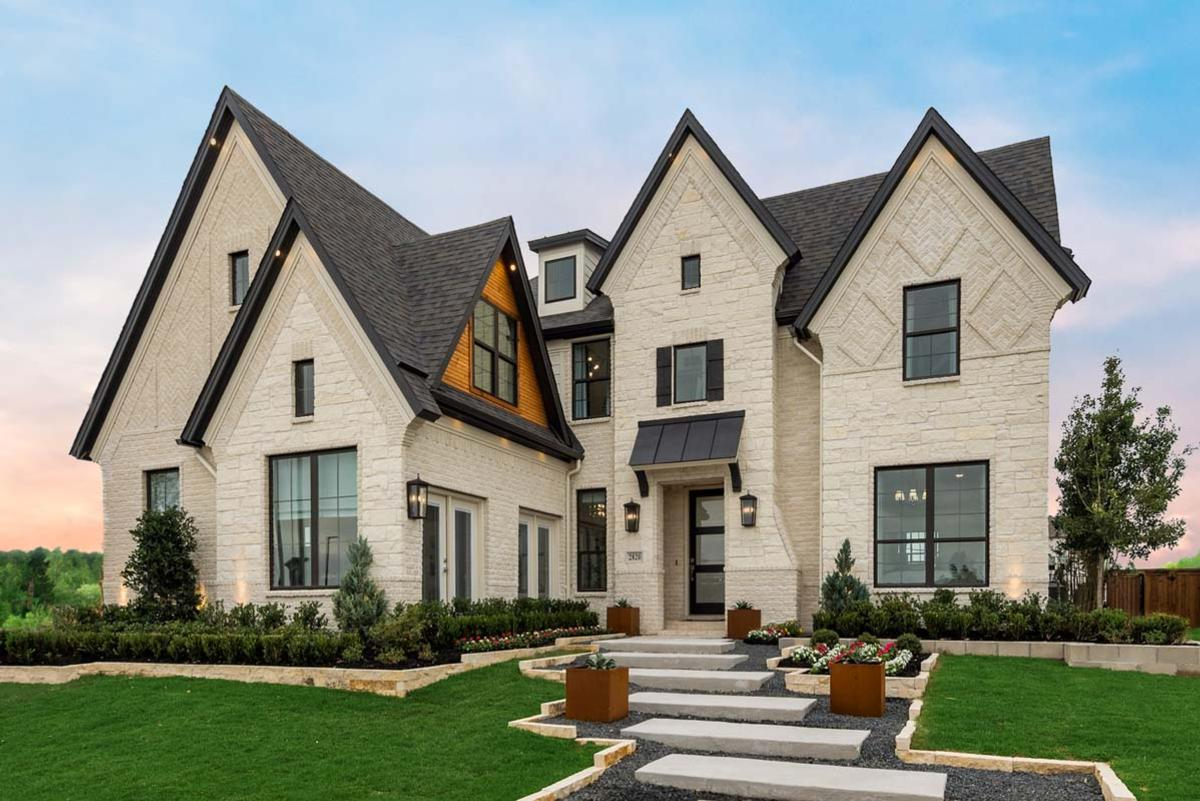 Exterior featured in the Grand Whitehall - 3rd Car Garage By Grand Homes in Fort Worth, TX