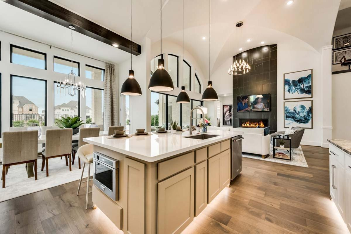 Kitchen featured in the Grand Whitehall - 3rd Car Garage By Grand Homes in Fort Worth, TX
