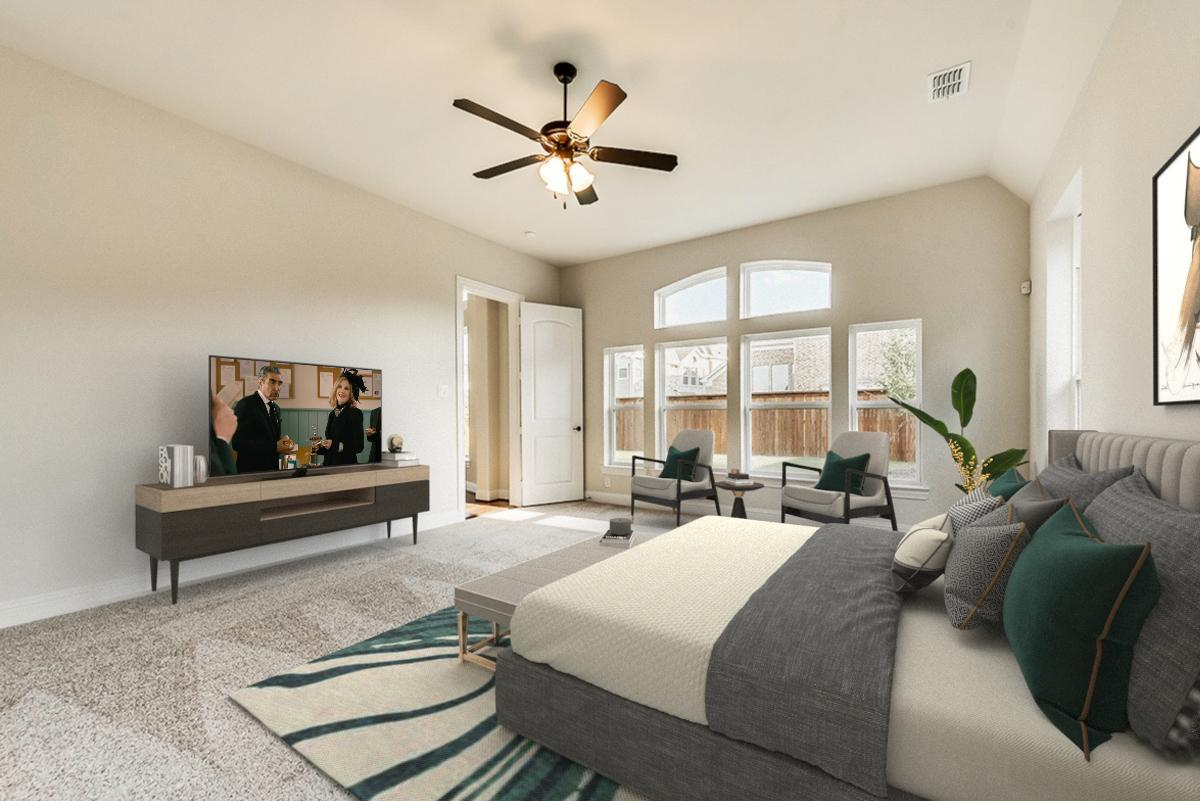 Living Area featured in the Tiffany II By Grand Homes in Dallas, TX