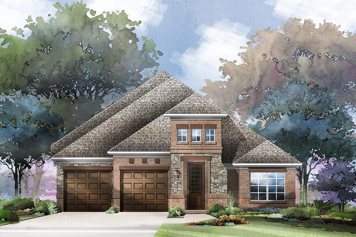 Exterior featured in the Grand Whitehall II By Grand Homes in Dallas, TX
